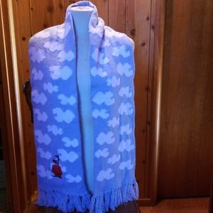New No Tag Snoopy Red Baron in the Clouds Scarf